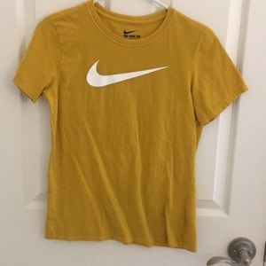 yellow nike shirt
